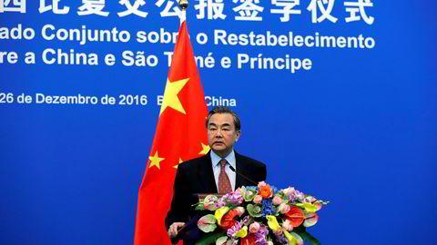 Klar melding til USA og president Donald Trump. Det er helt uaktuelt for Kina å fire på «ett Kina»-prinsippet.