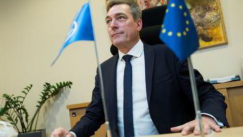 Frank Bakke-Jensen snakker varmt om EØS-avtalen.
