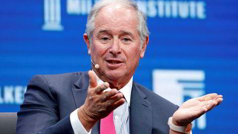 Toppsjef Stephen Schwarzman i Blackstone Group, som via selskapet GSO Capital Partners selger seg videre ned i Norske Skog.