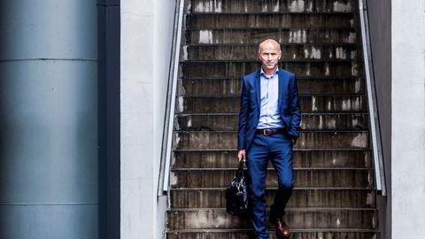 Oslo, Norge 16.09.2015 Administrerende direktør i BN Bank, Gunnar Hovland fotografert på Oslo S. Foto: Adrian Nielsen ---