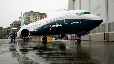 Et Boeing 737 MAX 9 utenfor fabrikken i Renton i delstaten Washington.