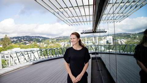 Vismas ferske toppsjef Merete Hverven har ikke ligget på latsiden siden hun tiltrådte som konsernsjef og har kjøpt 23 selskaper så langt i år. Her i toppetasjen på Vismas hovedkontor på Skøyen.