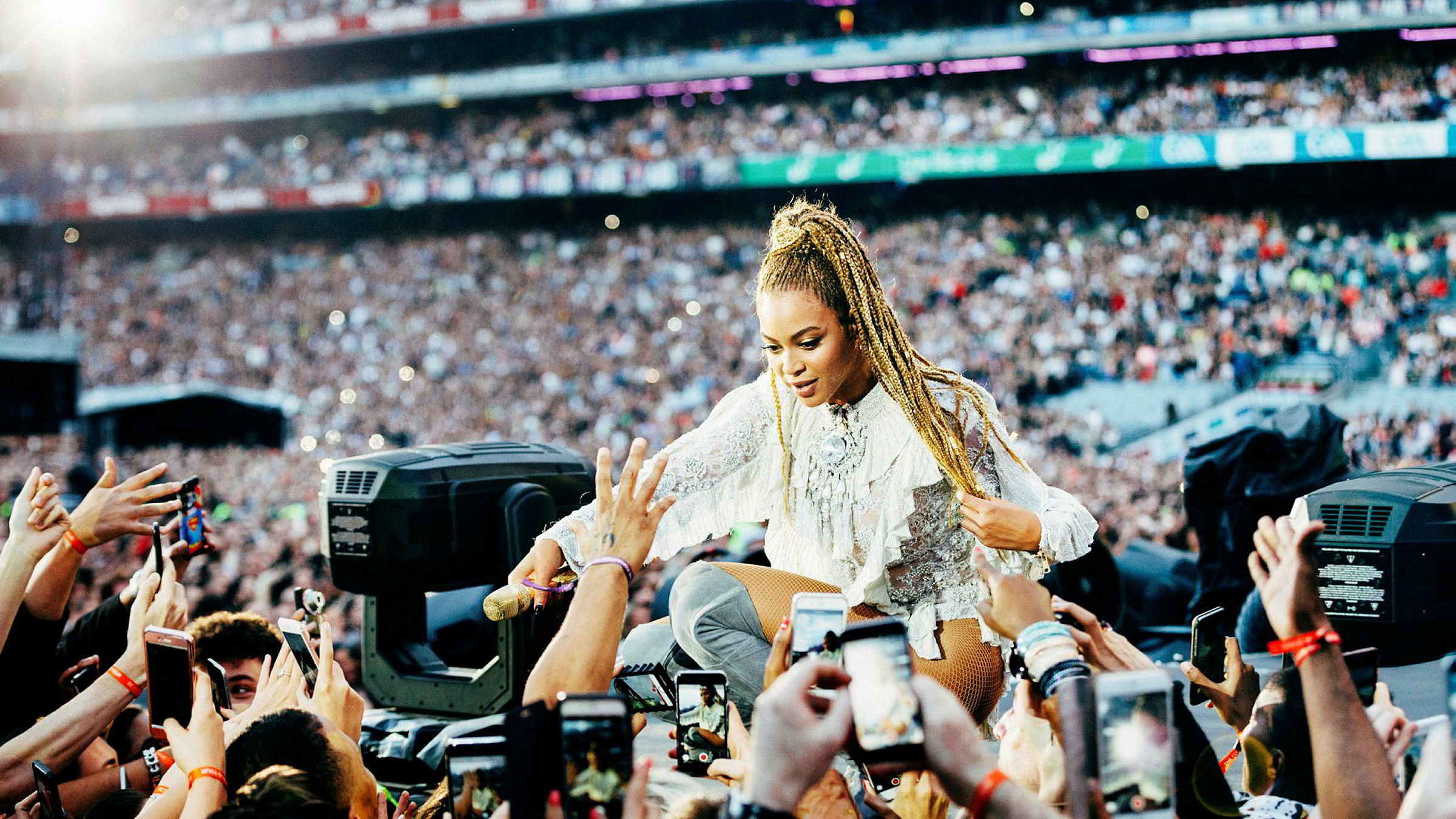 Beyoncés «Lemonade» ble lansert eksklusivt på Tidal i april 2016. I løpet av 15 dager skal albumet ha blitt lyttet til 306 millioner ganger. Her opptrer Beyoncé i Dublin på den etterføl- gende turneen samme år.