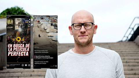 Ola Stenberg, produktdirektør i VG, synes det er merkelig at en spansk avis har laget en nyhetsapp for unge som er prikk lik VGs Peil-app.