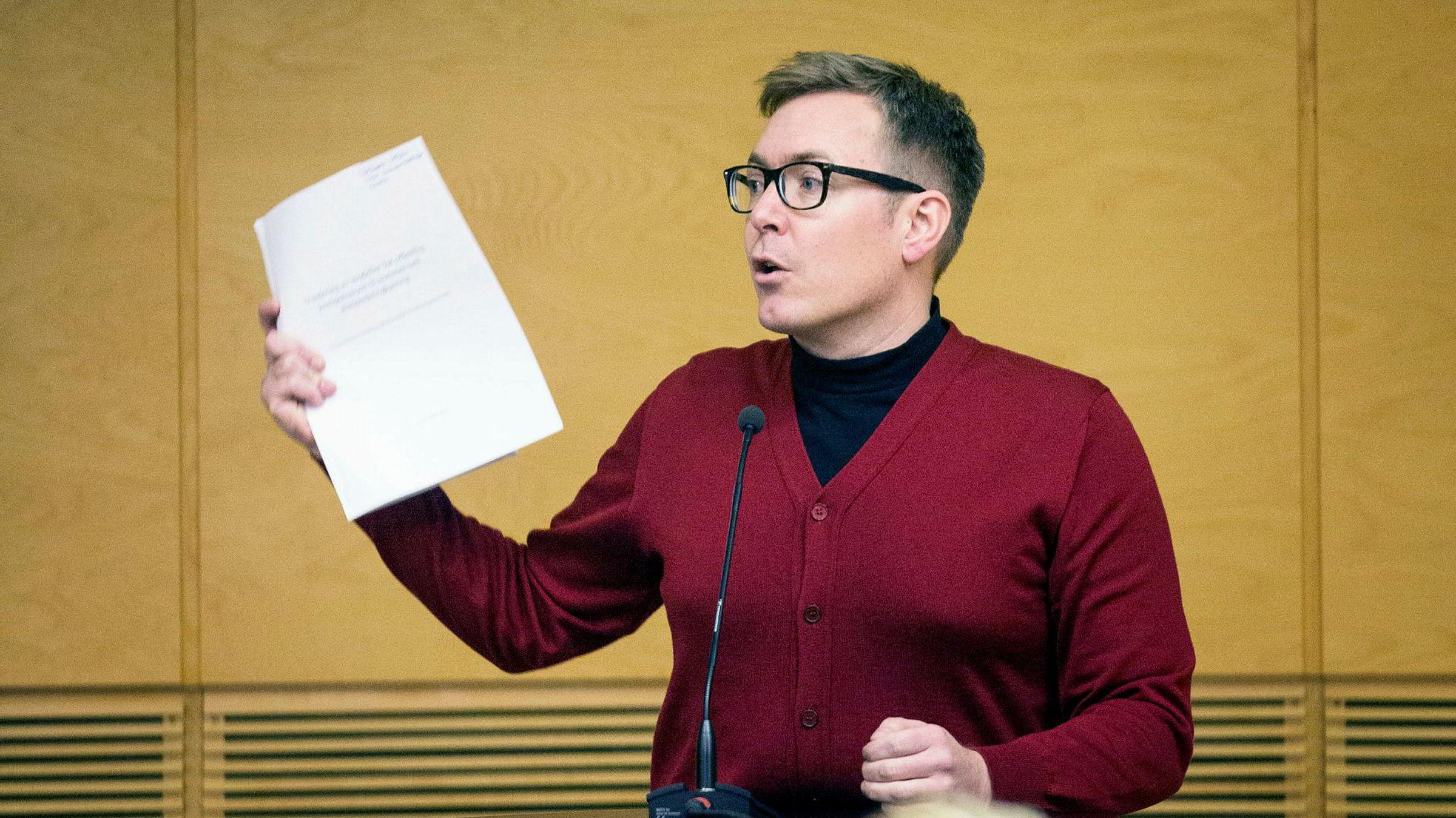 Direktør i Virke produsentforeningen, Torbjørn Urfjell, presenterte mandag tallene fra rapporten «Spillbransjen 2017» på bransjekonferansen Spillkonvent i Hønefoss.