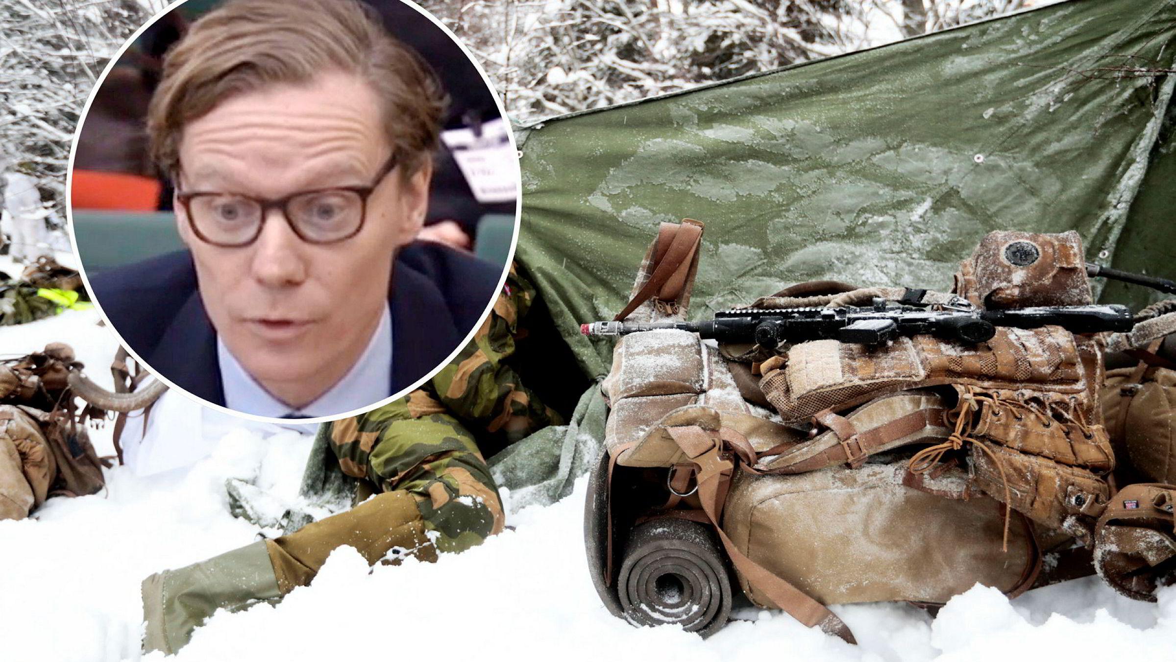 Cambridge Analyticas toppsjef Alexander Nix (innfelt) bekreftet avtalen med det norske Forsvaret i fjor og at dette var en del av SCLs selskaper.
