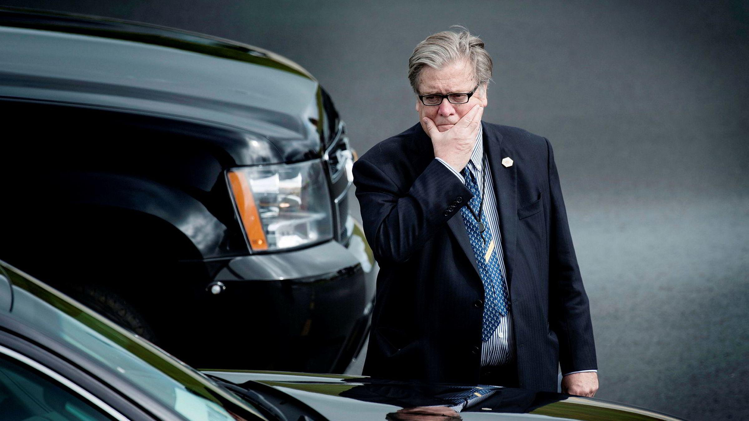 Trumps sjefsstrateg Steve Bannons avgang kan være nær.
