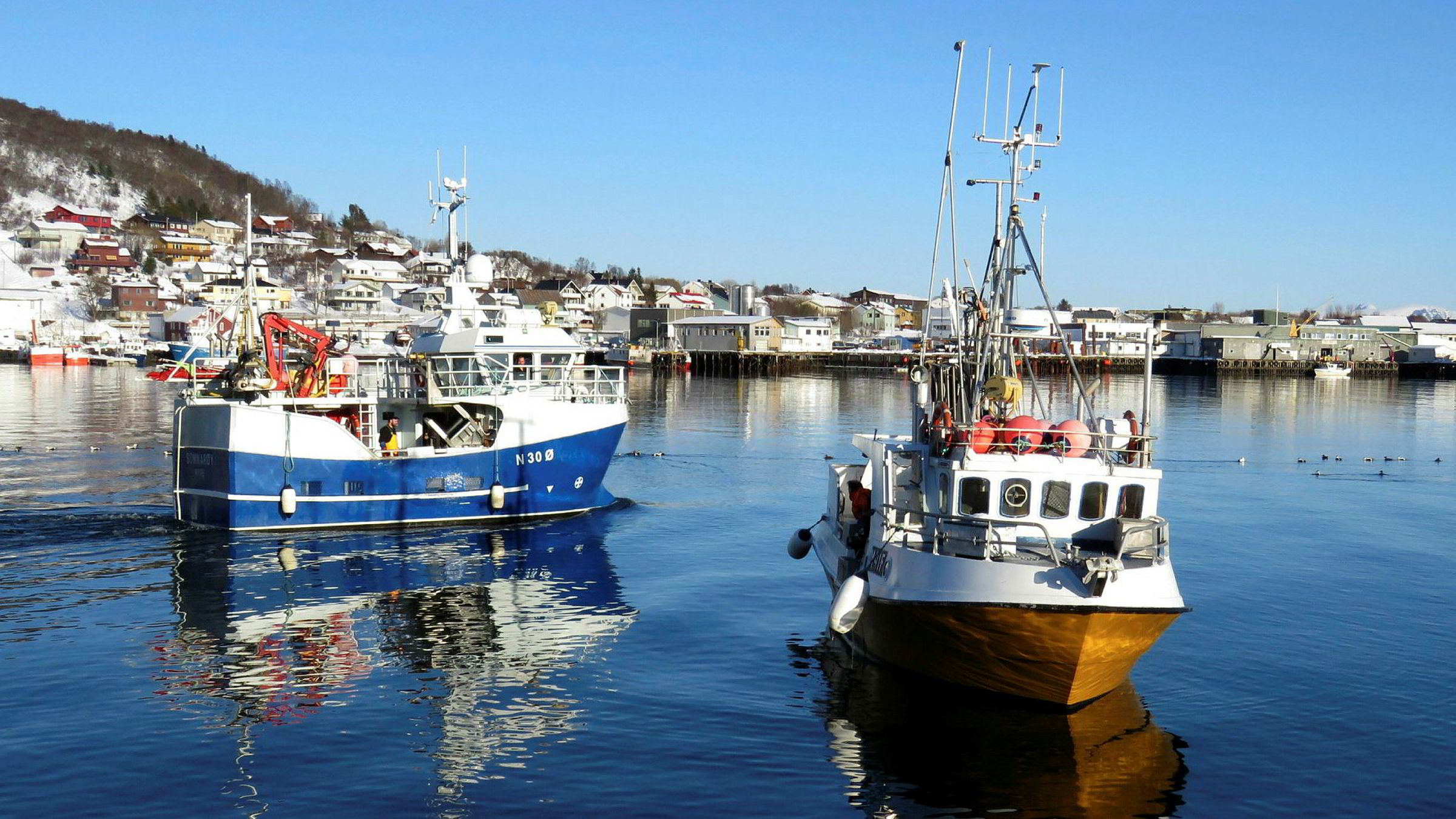 Fiske vil ha forrang for olje om LO vedtar sitt eget forslag til uttalelse fredag. Her fra Myre i mars 2017.