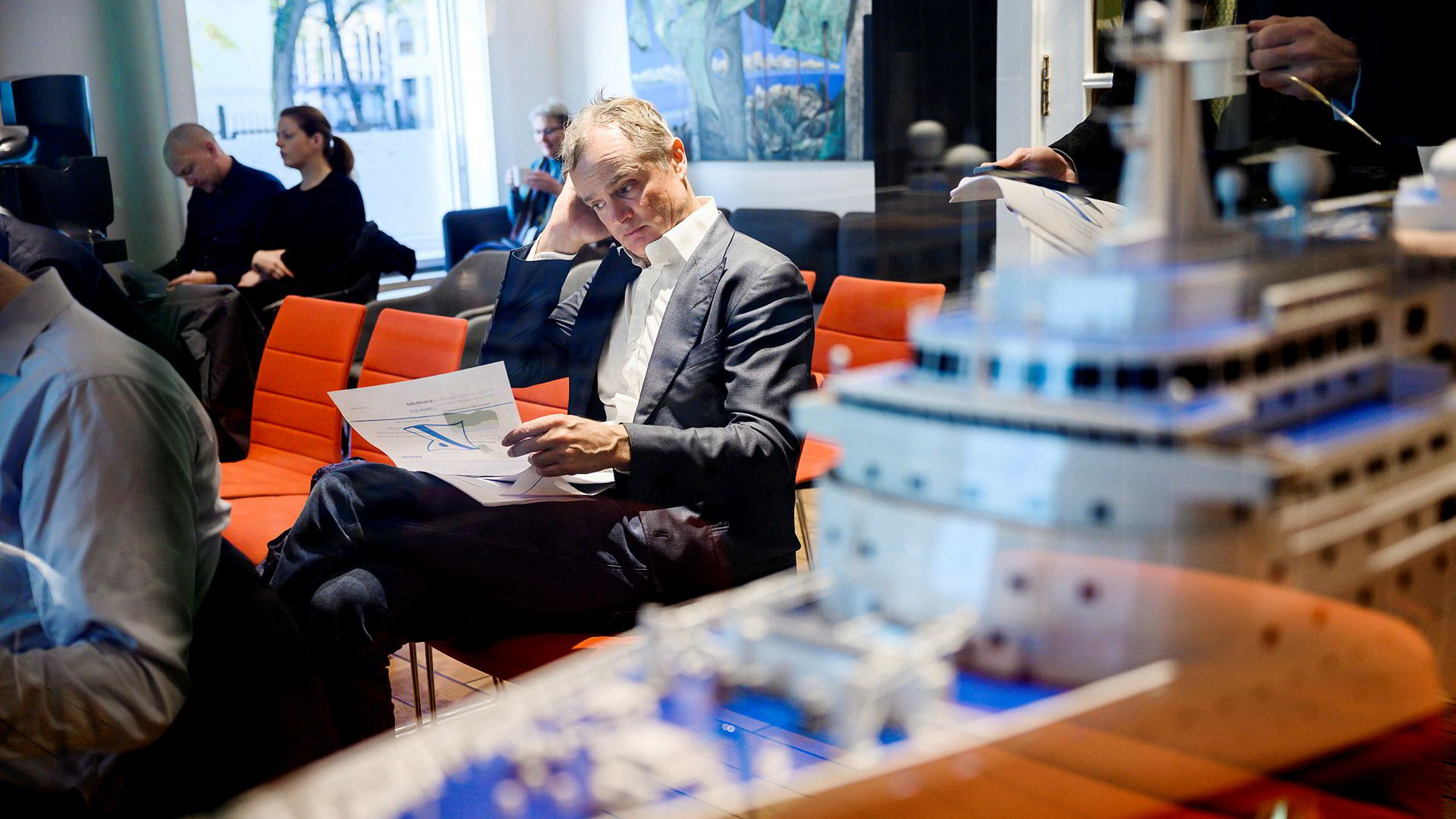 Øystein Stray Spetalen var til stede på Bonheurs tredjekvartalspresentasjon fredag morgen.