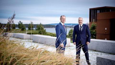 Brasil-sjef Anders Opedal (til høyre) er en kort tur hjemme i Norge. Brasil vil stikke av med de største summene av investeringsbudsjettet til Lars Christian Bacher, sjef for internasjonal virksomhet i Statoil.