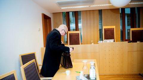 Tidligere advokat Geir Knutsen ble i fjor dømt for omfattende skatte- og avgiftsunndragelser, men oljeserviceselskapet Technip lyktes ikke med å kaste ham ut av boligen i Bærum.