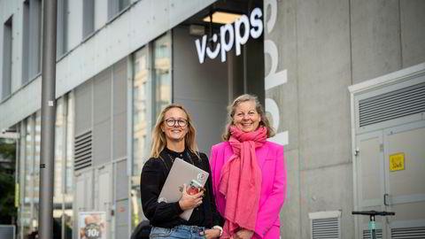Sjef i Vipps Mobil Elisabeth Haug (til venstre) og Berit Svendsen, leder for Vipps' internasjonale satsing.