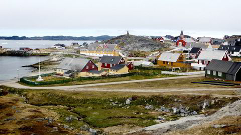 En strand i Nuuk på Grønland i juni 2016.