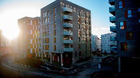 Lav prisvekst og mange boliger på markedet, gjør at flere førstegangskjøpere kommer seg inn på markedet, ifølge ny rapport. Her fra Nydalen i Oslo.