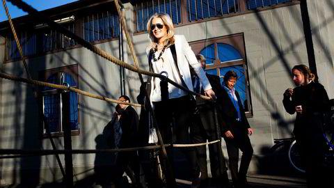 Celina Midelfart, her avbildet i forbindelse med bladet TradeWinds' fest på Christian Radich.