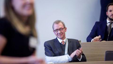 Direktør Idar Kreutzer i Finans Norge gleder seg over tallene i det siste Forventningsbarometeret.