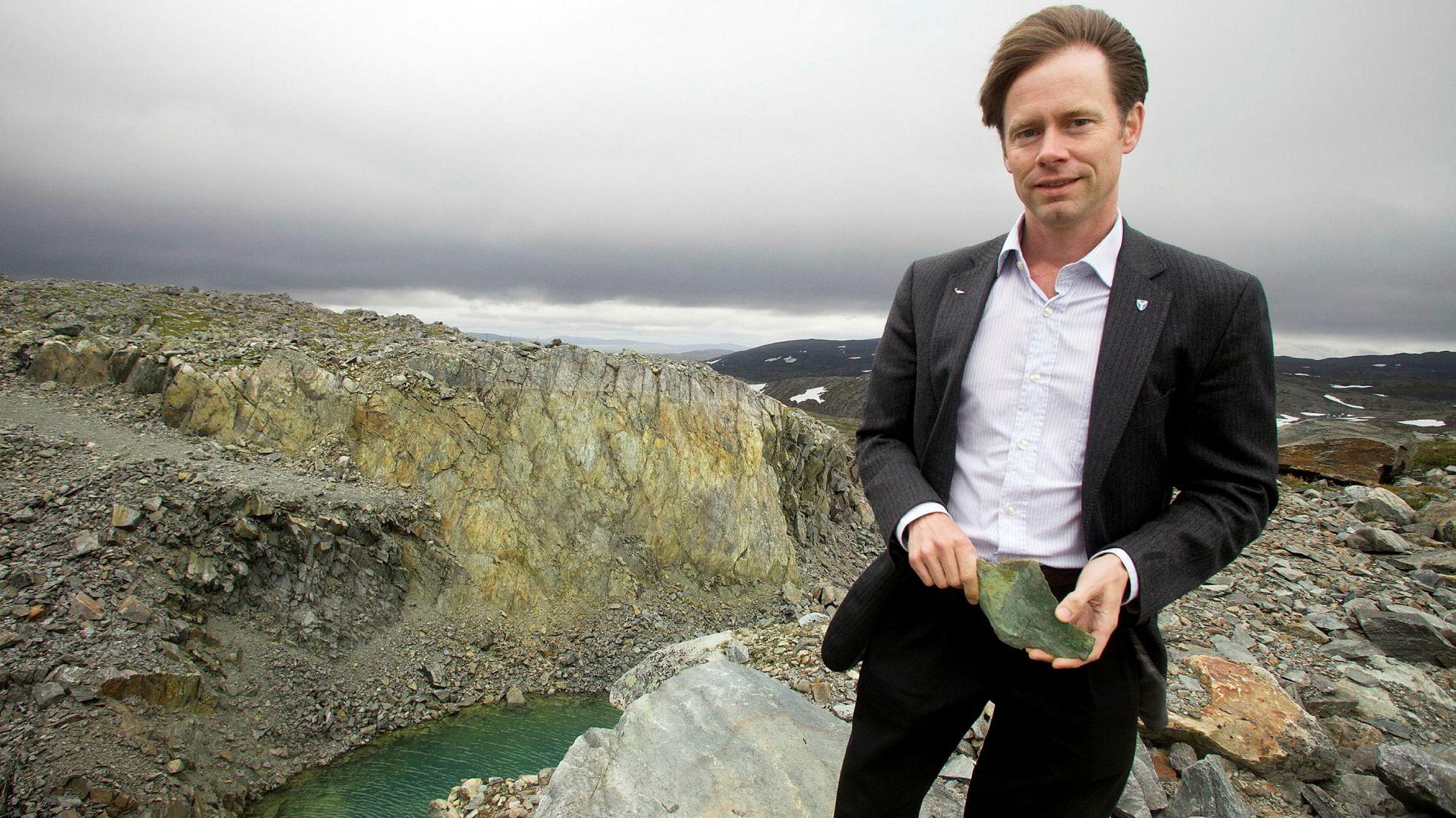 Bak det nedlagte dagbruddet på Ulveryggen i Kvalsund er Norges største kobberforekomst kartlagt. Øystein Rushfeldt er gründer og primus motor for det som om to år kan bli Norges største kobbergruve gjennom tidene.