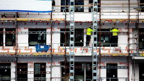 Nye tall viser at det ble igangsatt 42 prosent flere boliger i januar i år enn i samme måned i fjor.