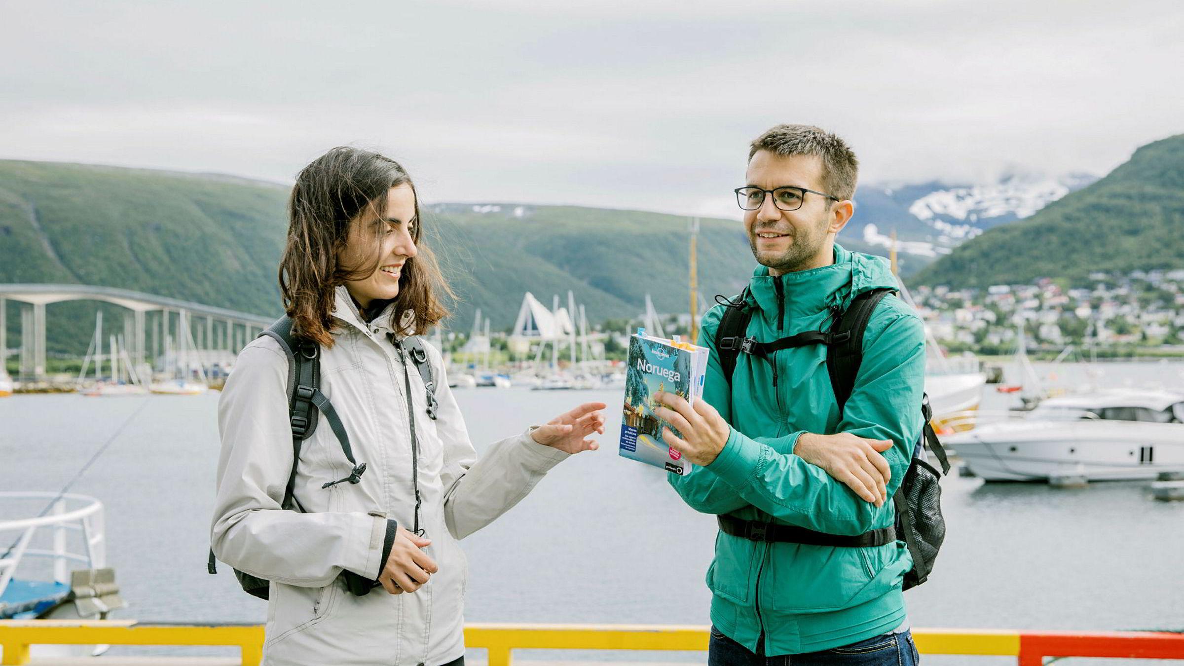 Sara Jiménez Juliá og Joan Toni Puigserver Rosselló fra Mallorca skal feriere en uke i Nord-Norge.