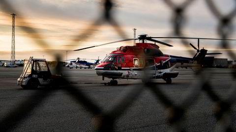 Helikoptertrafikk på Stavanger Lufthavn Sola i Desember 2016.