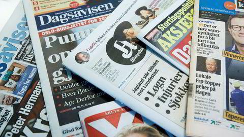 Papiraviser taper terreng blant det norske folk.
