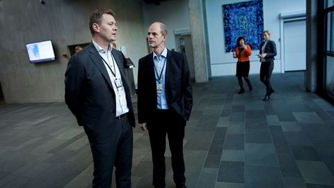 Konserndirektør Jens Økland og sjef for landanleggene Lars Rosenløv medgir at ulykken på Sture-terminalen 12. oktober lett kunne fått fatale følger.