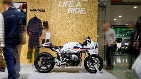 En motorsykkel som ble svært omsvermet på Lillestrøm i helgen var denne retro-sykkelen fra BMW som heter R Nine T Racer.