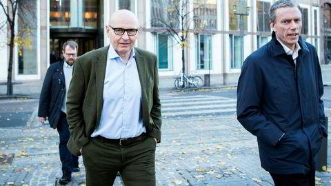 DN hevder at Schibsted så på Snapsale som en «potensielt farlig konkurrent». Faktum er at da Schibsted investerte i Snapsale i juni 2014, hadde ikke Snapsale noe produkt på plass. Kronikkforfatter og sjef i Schibsted Norge, Didrik Munch, til venstre og konsernsjef Rolv Erik Ryssdal til høyre.