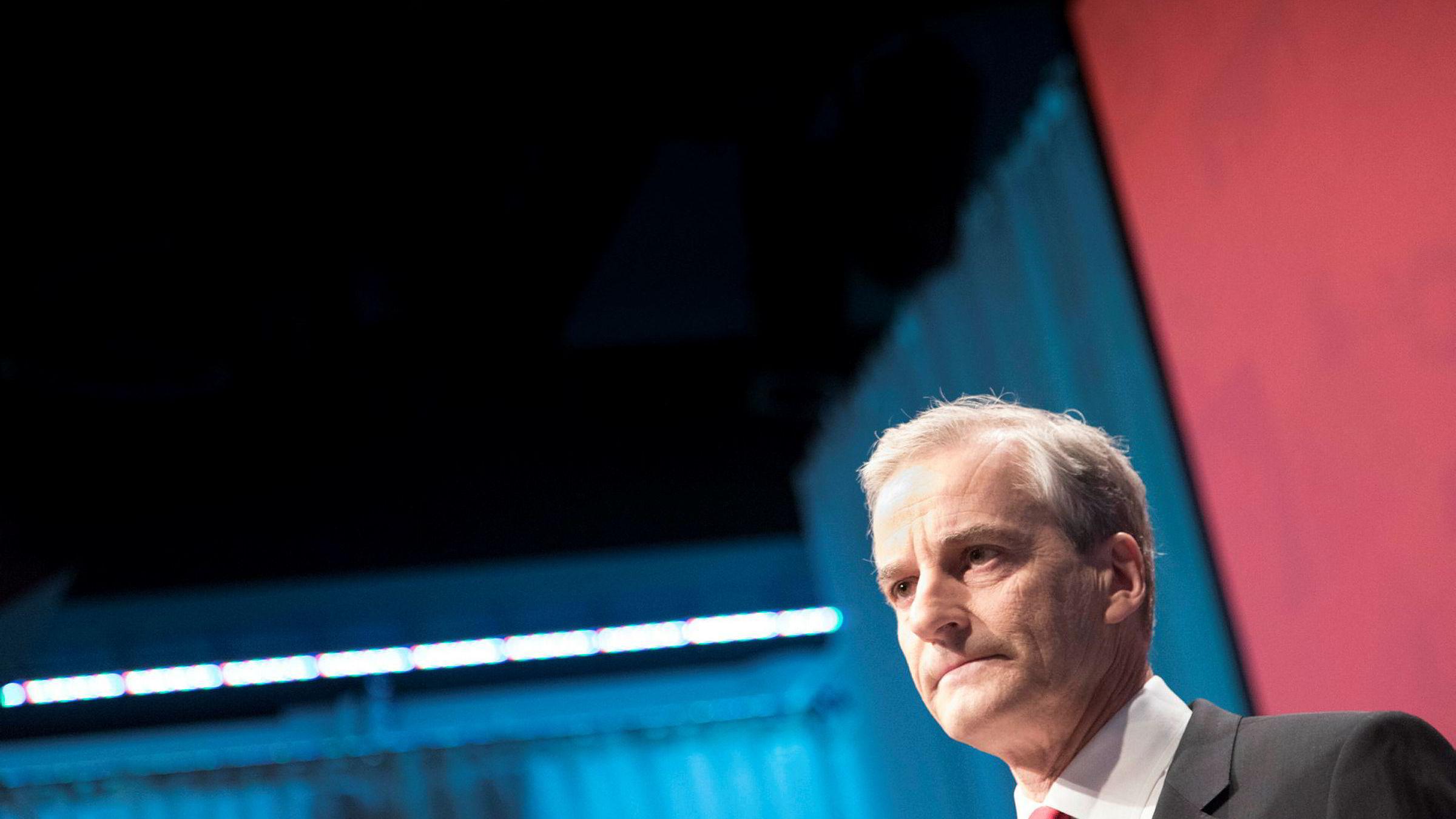 AP-leder Jonas Gahr Støre under LO-kongressen.
