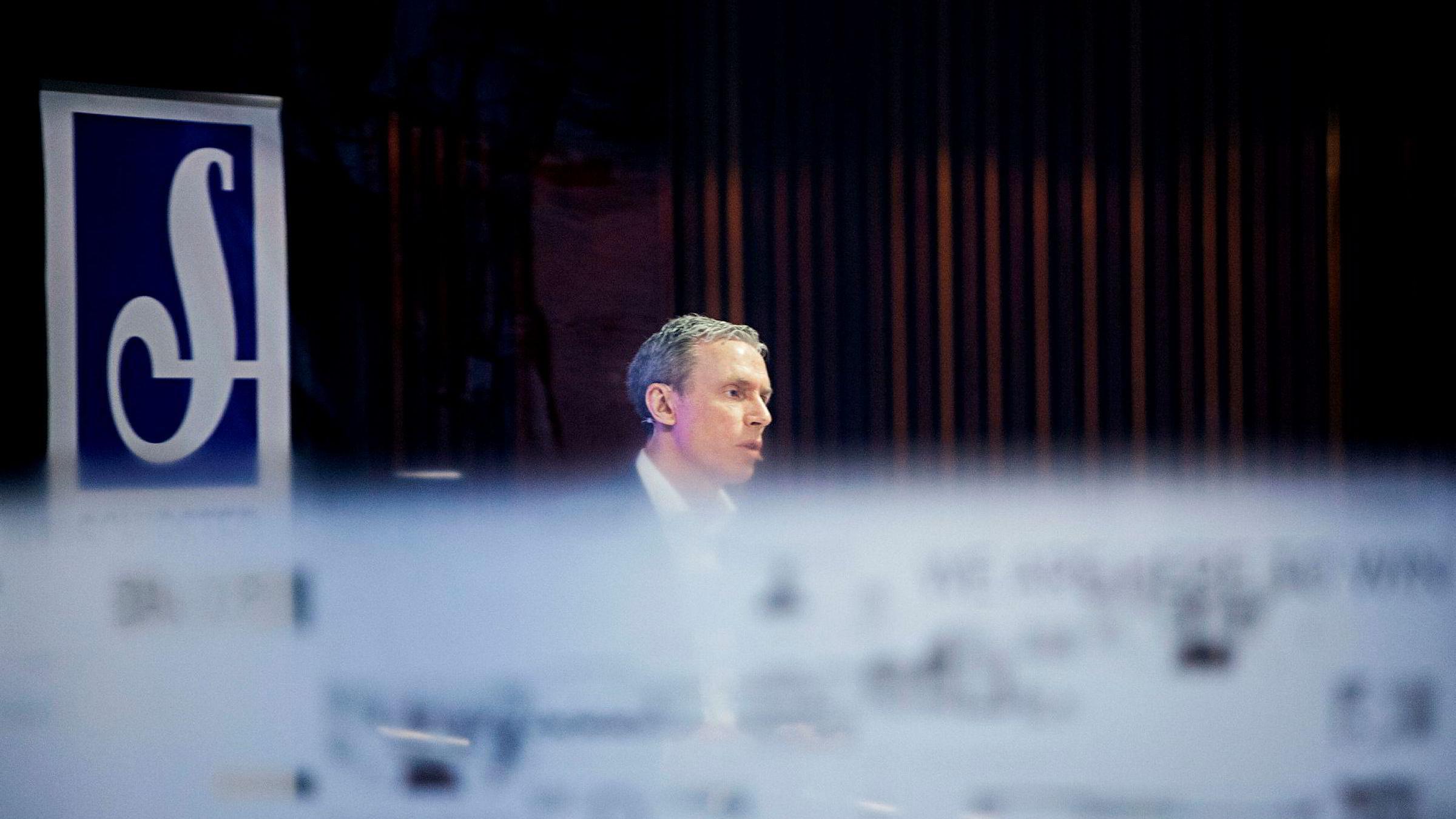 Konsernsjef Rolv Erik Ryssdal i Schibsted presenterte konsernets resultater i forrige uke. VG har en høy digitalandel av total omsetningen, mens abonnementsavisene henger etter.