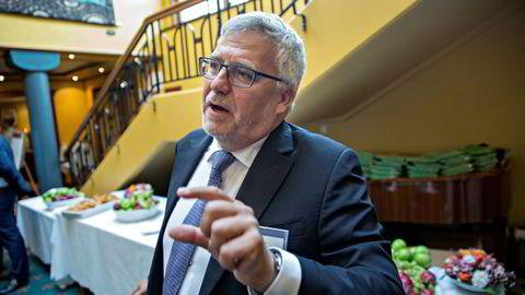 Seadrill-sjef Per Wullf venter at det blir omtrent så lite igjen til obligasjonseierne etter refinansieringen i riggselskapet. Her fra Paretokonferansen på Holmenkollen i høst.