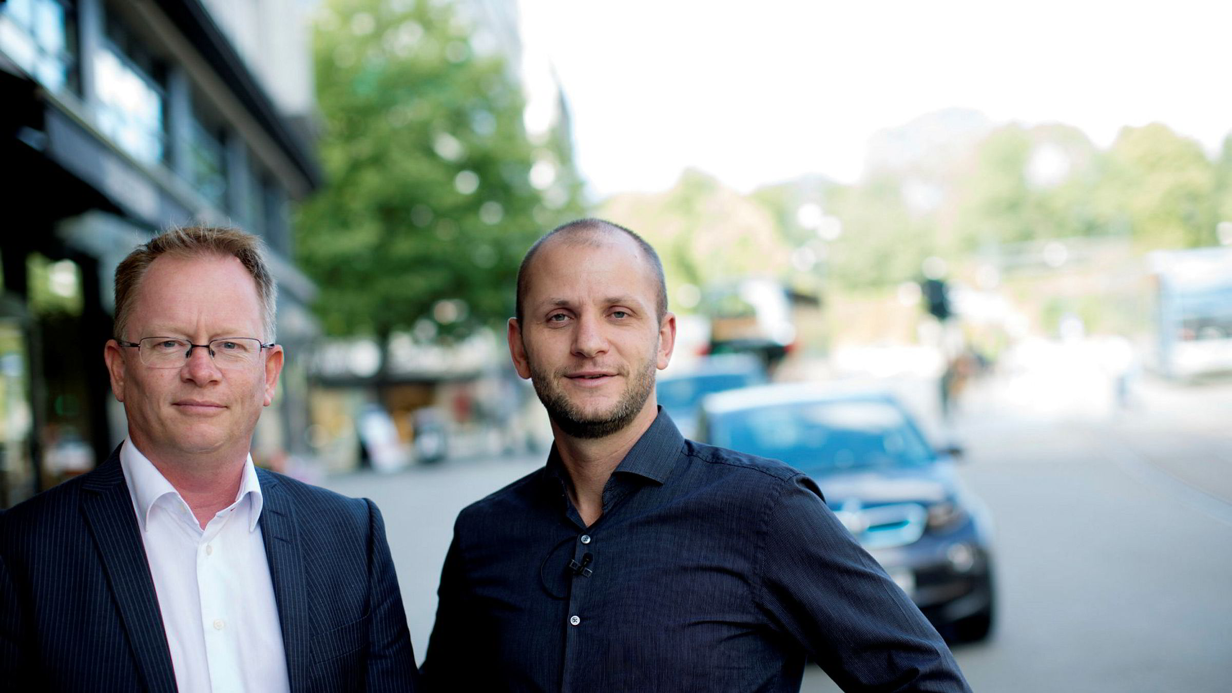 Frode Fagerli (til venstre) og Robin Reed i Gaming Innovation Group.