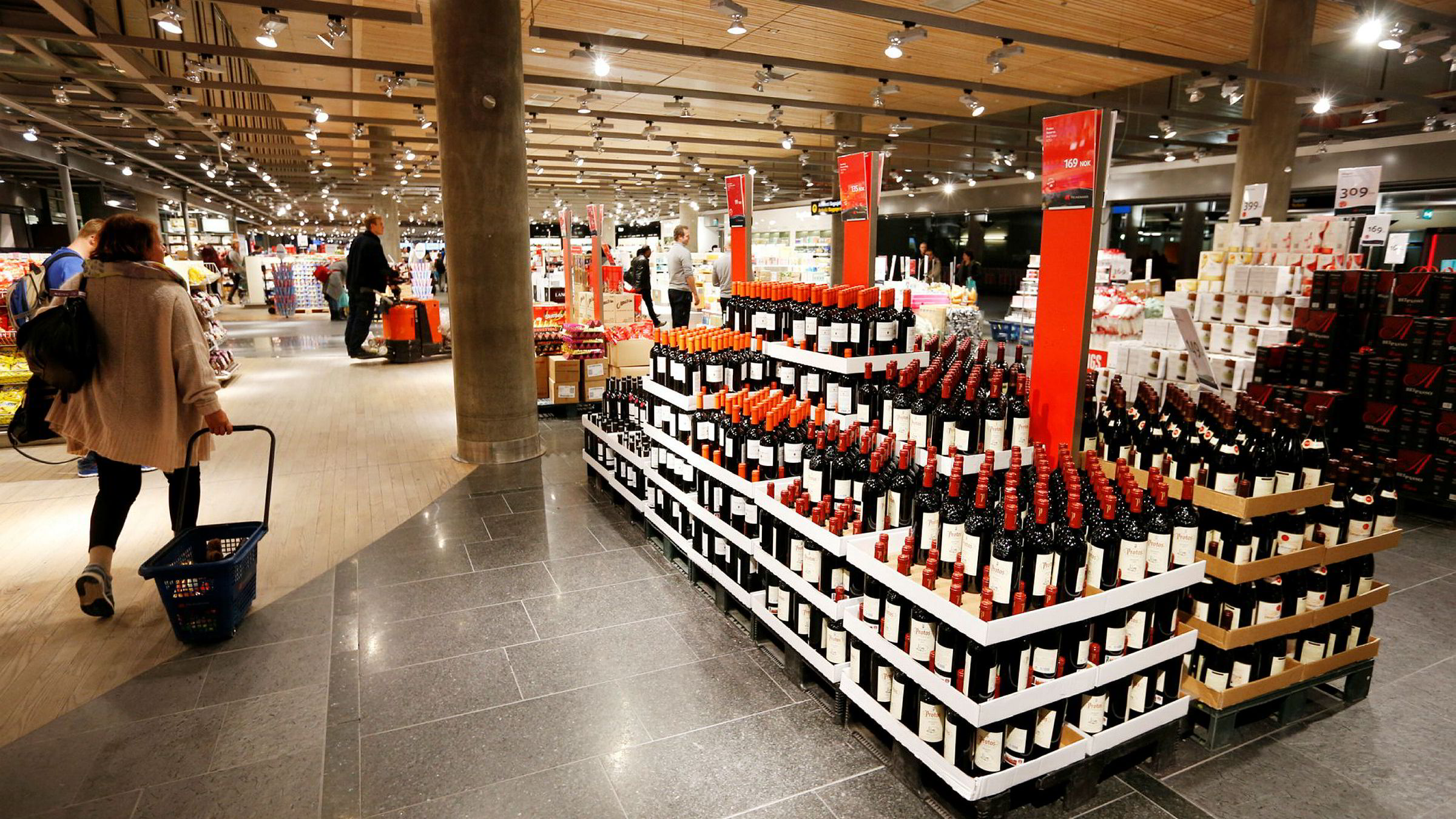 Taxfree-butikk på Gardermoen.
