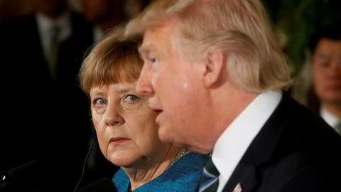 Angela Merkel og president Donald Trump møttes i Det hvite hus fredag.