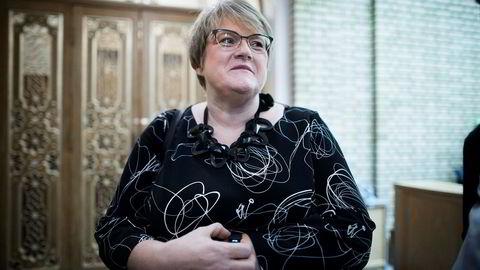 Stortingsrepresentant og partileder for Venstre Trine Skei Grande er optimist før landsmøtet til tross for dalende oppslutning på meningsmålingene.