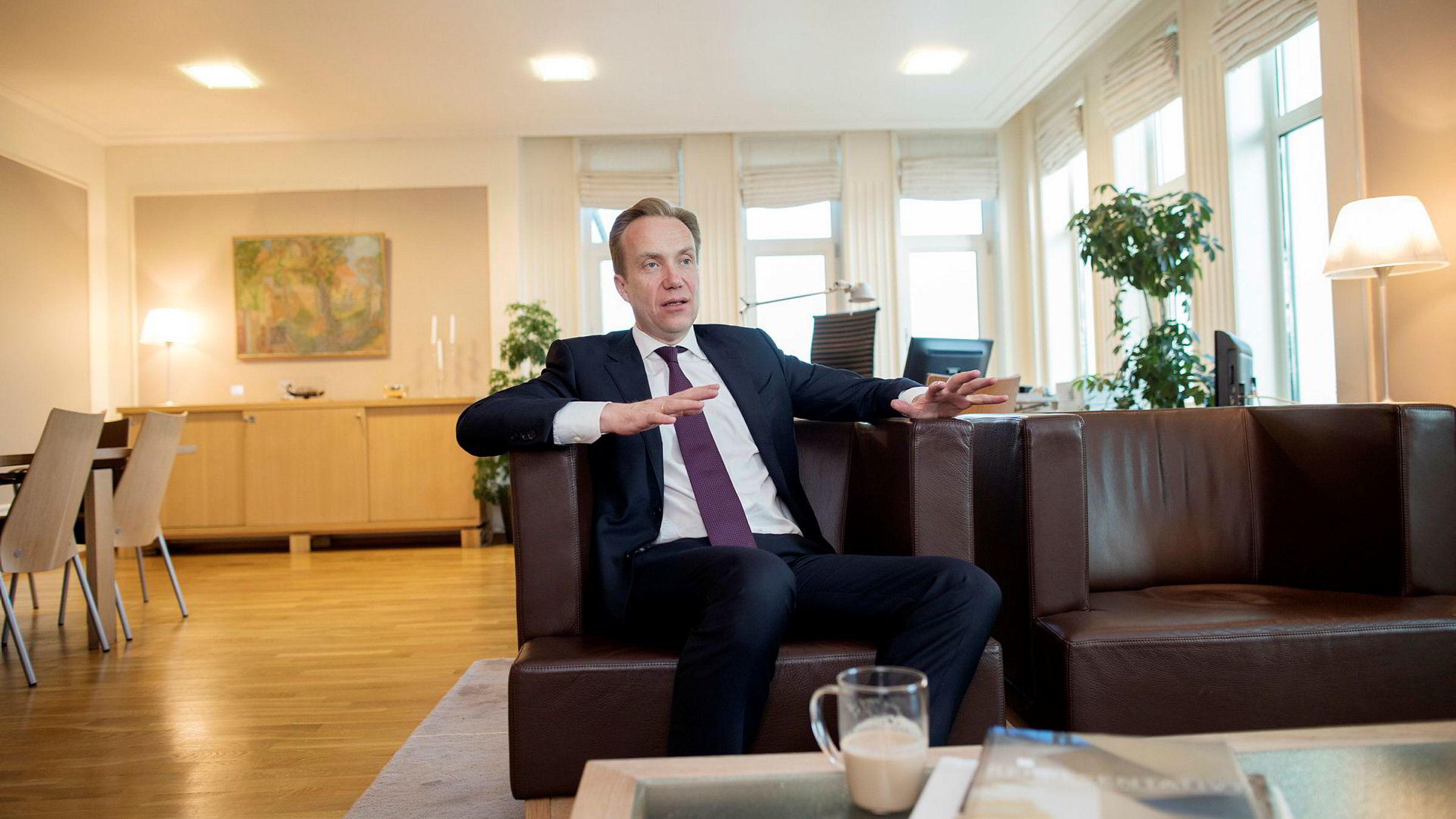 Utenriksminister Børge Brende, her på sitt kontor.