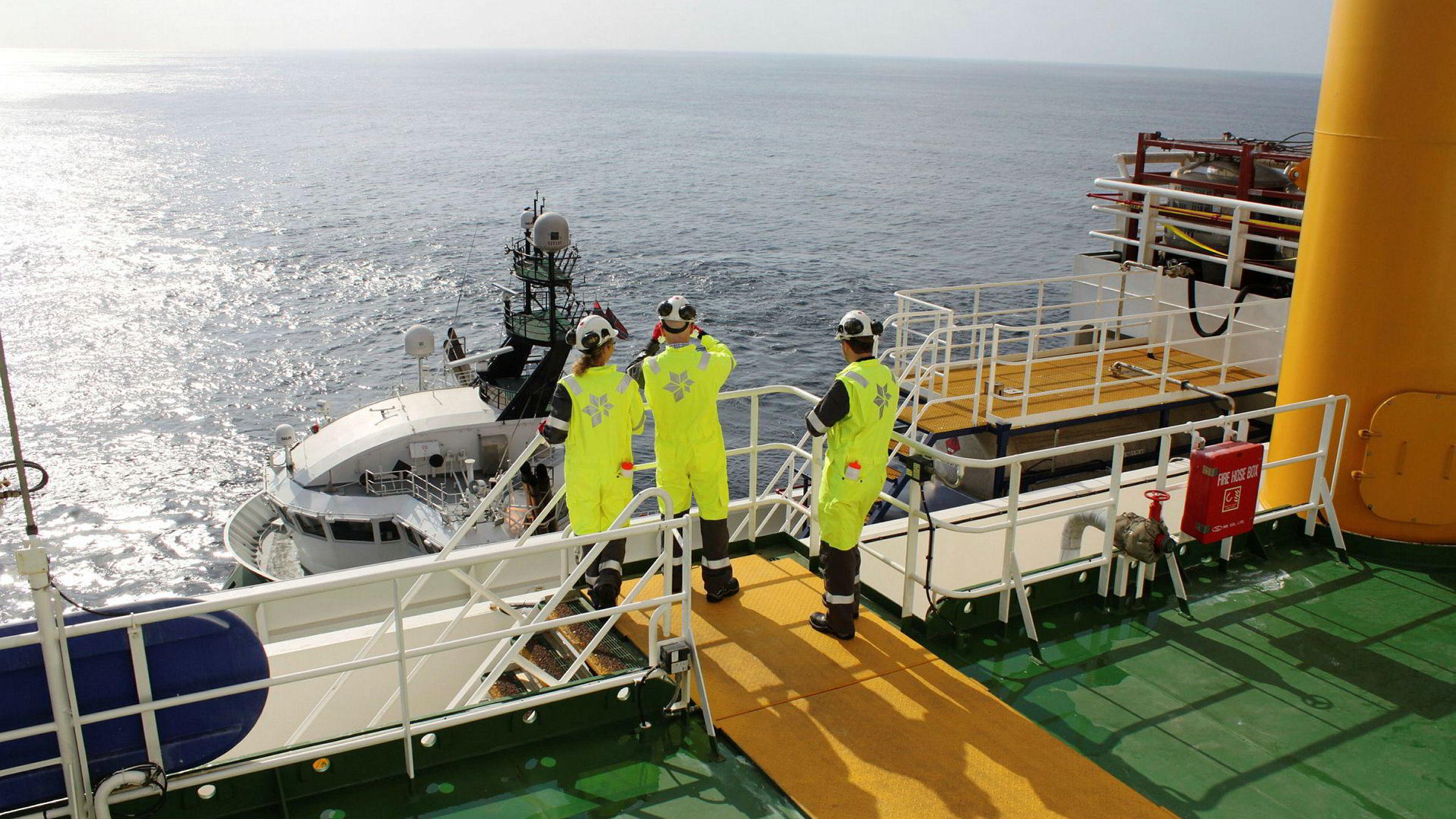 Statoil er blant selskapene som har betalt penger til forskningssenteret. Her fra Statoil boreskip Stena Carron utenfor kysten av Angola.