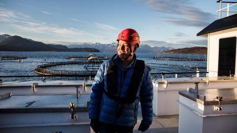 Stig Nilsen, konserndirektør for havbruk i Lerøy Seafood Group, her ved Lerøy Aurora – som ikke kritisert av Mattilsynet.