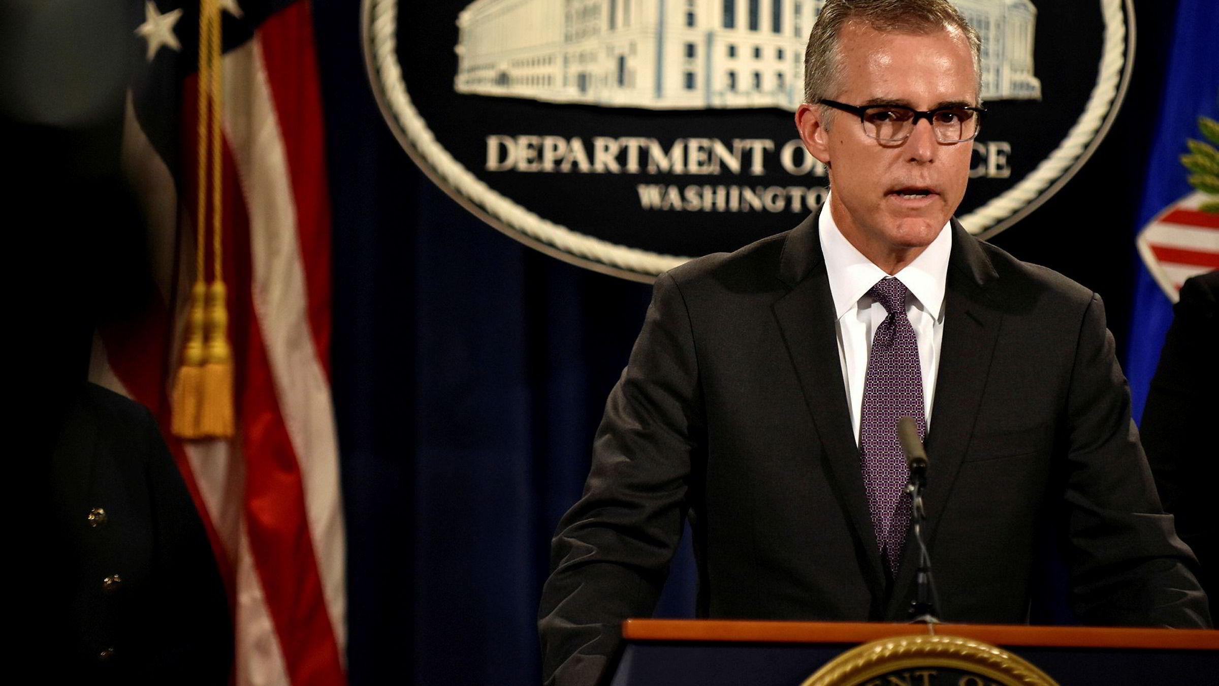 FBIs fungerende Andrew McCabe.