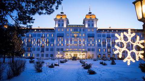 Hotel Kempinski i St. Moritz oser av klassisk eleganse.