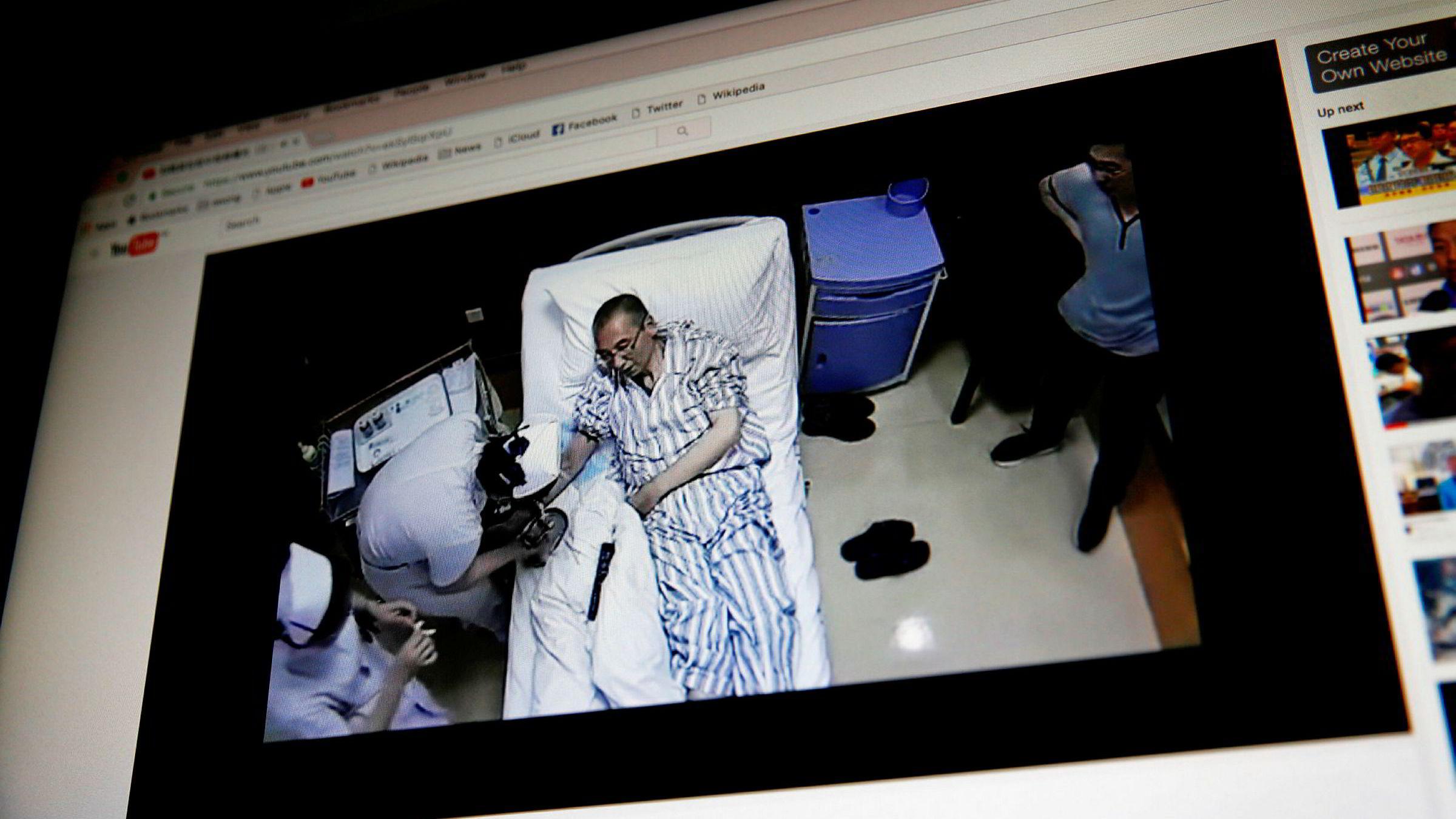 En video som skal vise Liu Xiaobo mens han mottar medisinsk behandling, er blitt spredt via Youtube denne uken. Videoens opprinnelse er ikke kjent. Heller ikke omstendighetene rundt filmingen. En kilde nær Liu og hans kone karakteriserer videoen som propaganda, ifølge Reuters.