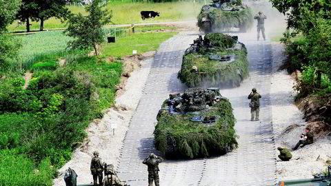 Tyske soldater har en øvelse i Litauen. Nato-soldatene til tyskerne har allerede blitt utsatt for det Forsvarsdepartementet nå advarer nordmennene mot.