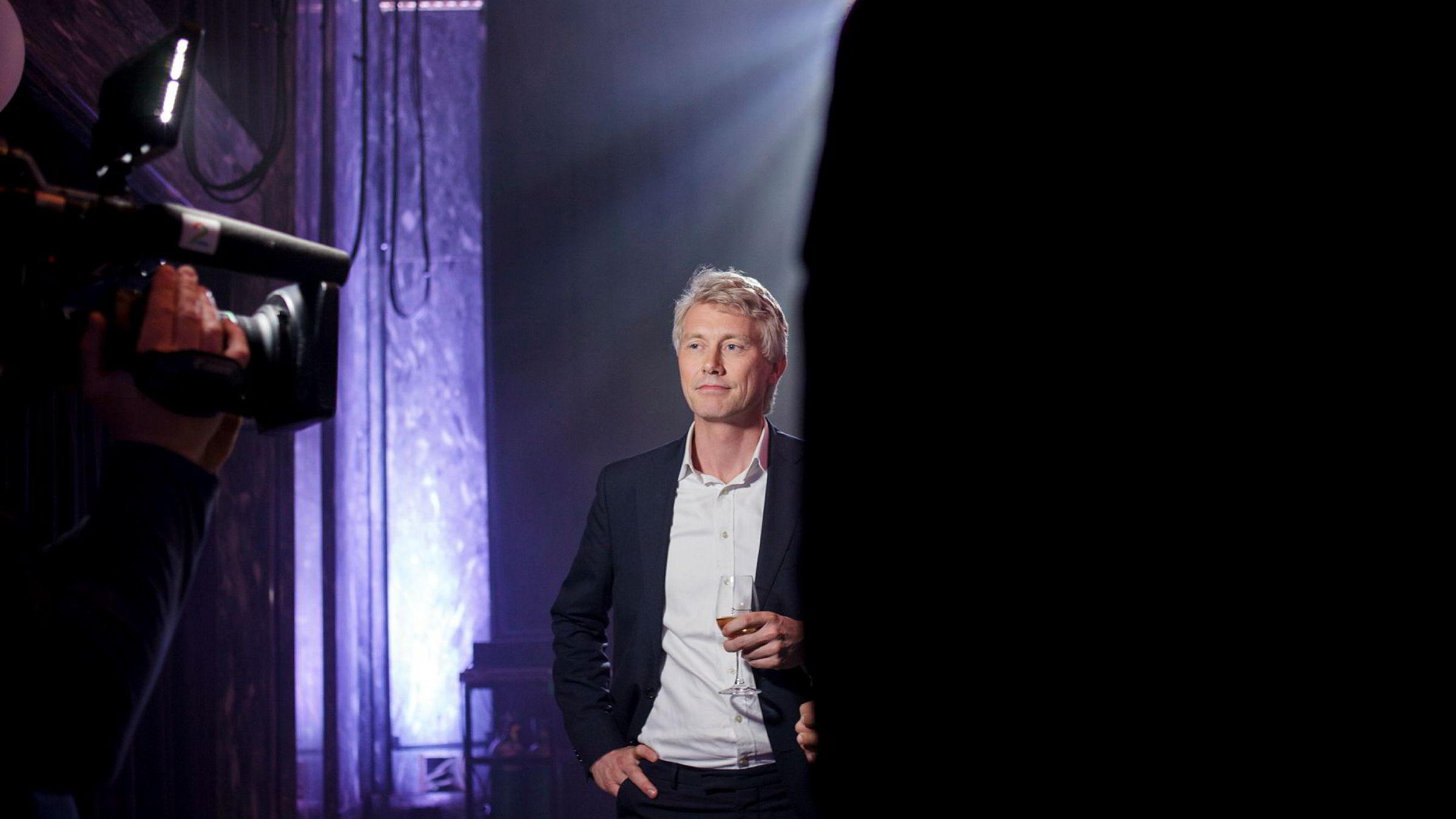 TV 2-sjef Olav Sandnes feiret torsdag suksessen til TV 2 Nyhetskanalen i en ellers tøff tid for mediehuset. Foto: Javad Parsa