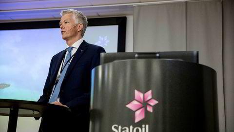 Statoils finansdirektør Hans Jakob Hegge presentere tallene for andre kvartal.