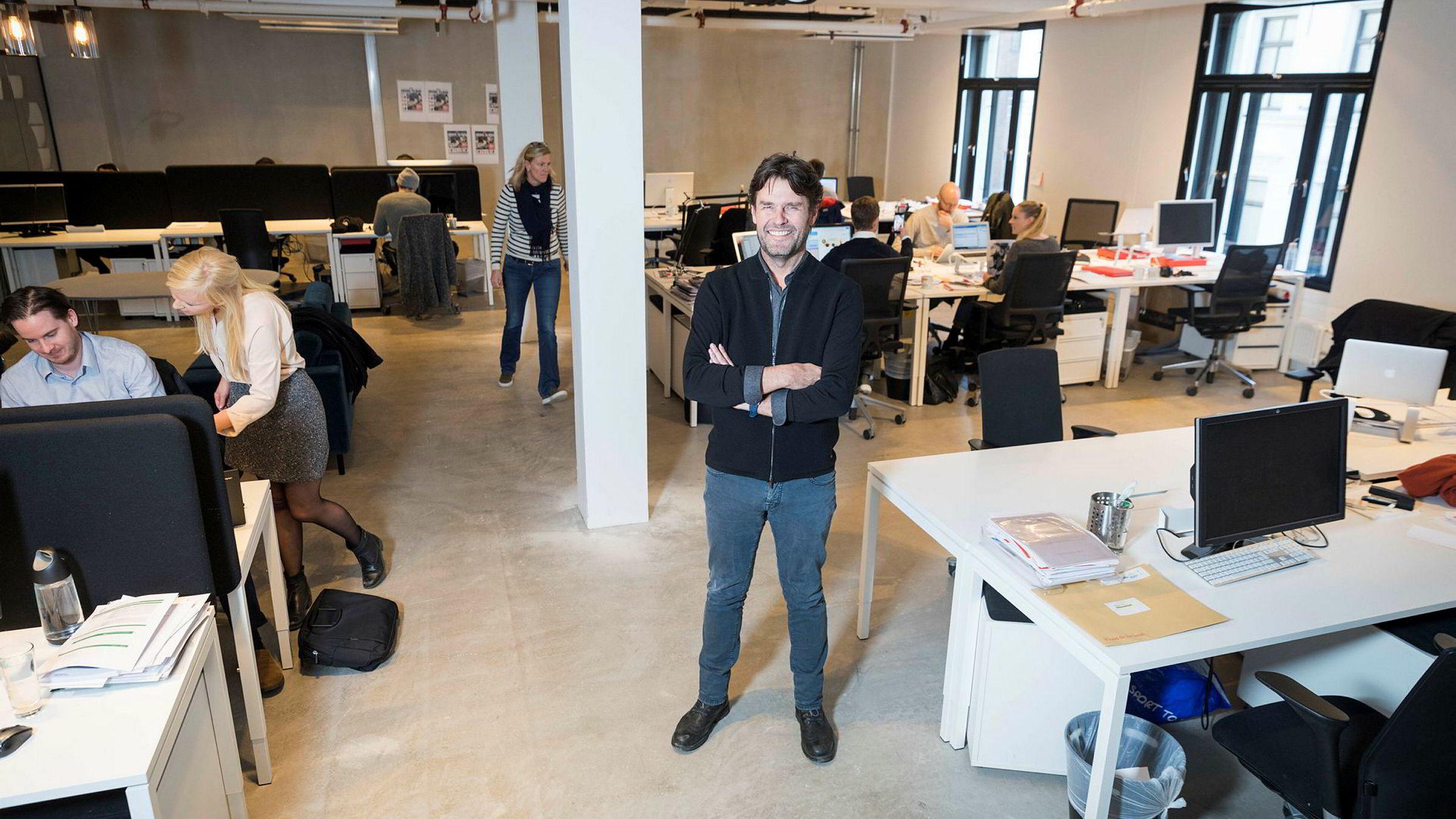 Daglig leder Haakon Dahl i reklamebyrået Kitchen mener det er viktig å holde på egen kjernekompetanse.