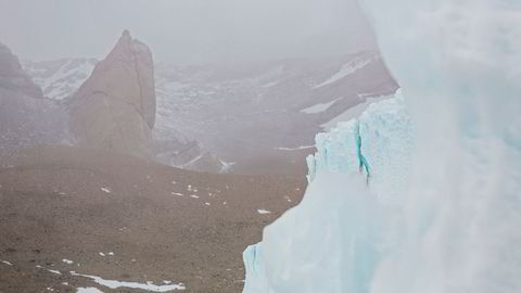 Isfrie områder i Antarktis vil vokse kraftig. Bildet er fra natur i området rundt Jutulsessen i Antarktis.