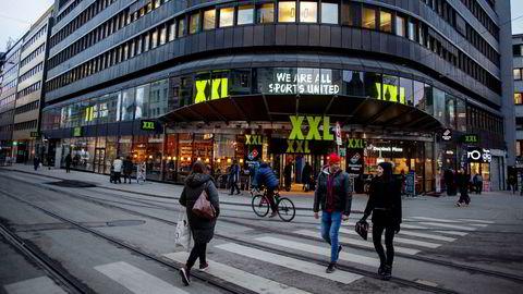 Folketrygdfondet stemte mot XXLs forslag til incentivprogram for ledelsen. På bildet er XXLs butikk i Oslo sentrum.