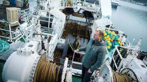 Tommy Torvanger er konsernsjef i fiskerikonsernet Nergård. Her er han avbildet om bord på tråleren «Tønsnes» ved kai i Tromsø.