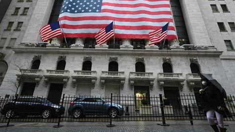 Dårlige jobbtall ødela den gode stemningen på Wall Street, her New York-børsen (Nyse).