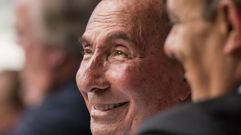 Serge Dassault, styreleder og administrerende direktør i den franske Dassault-gruppen, i et foto fra 2014. Dassault døde mandag, 93 år gammel.